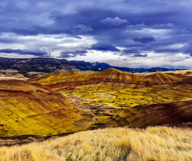 Unité peinte de collines - monument de John Day Fossil Beds National photo stock