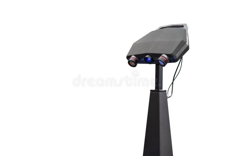 Unité principale de lentille de balayage automatique de pointe et moderne du laser 3d pour la fabrication industrielle de mesure  photographie stock libre de droits