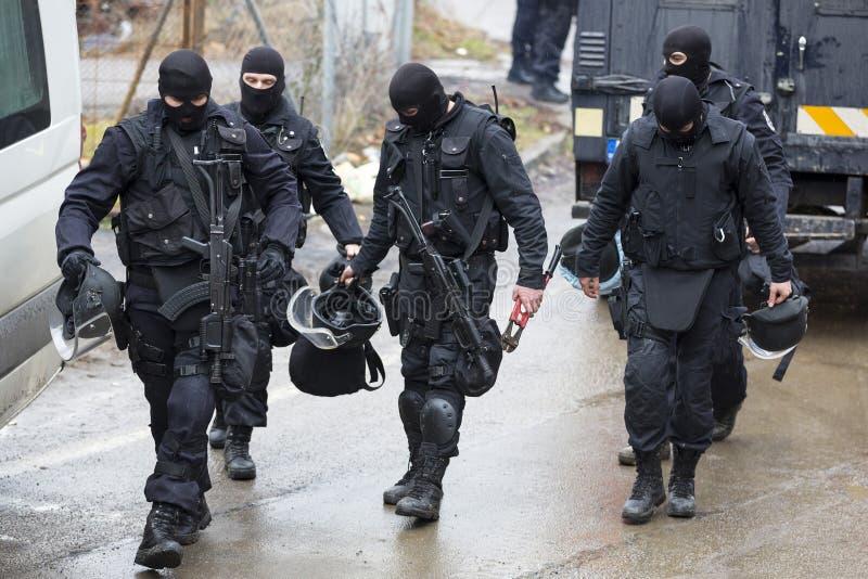 Unité spéciale de police images libres de droits