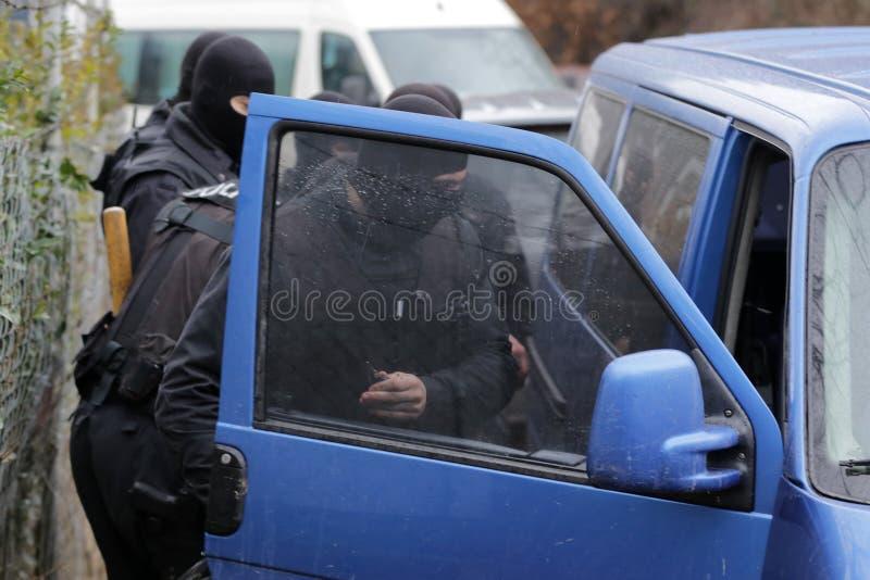 Unité spéciale de police photographie stock libre de droits