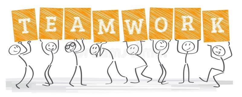 Unité - travail d'équipe illustration libre de droits