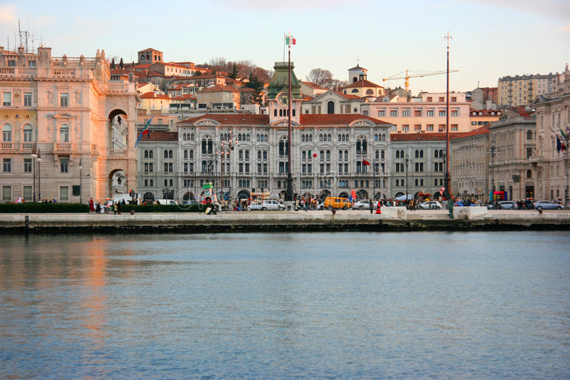 UNITA de la plaza de Trieste fotos de archivo