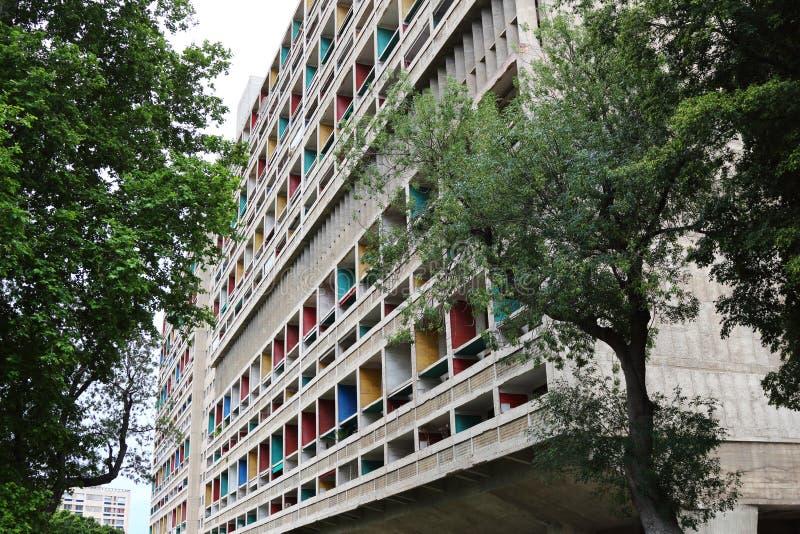 Unite d'Habitation in Marseille, Frankrijk royalty-vrije stock fotografie