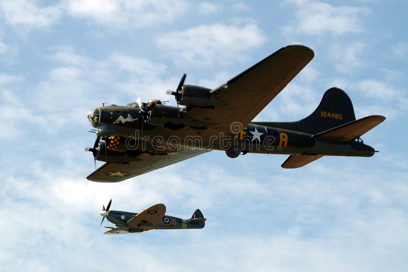 Download United stock photo. Image of historic, skies, aircraft, fortress - 11408