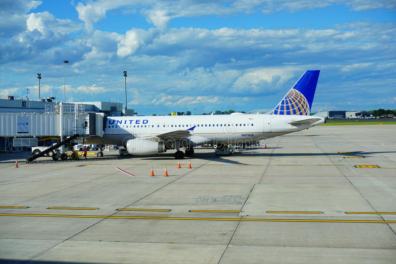 United Airlines photos libres de droits