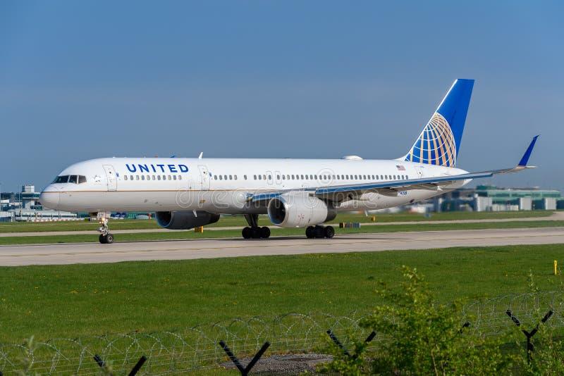 United Airlines Boeing 757 fotografia de stock