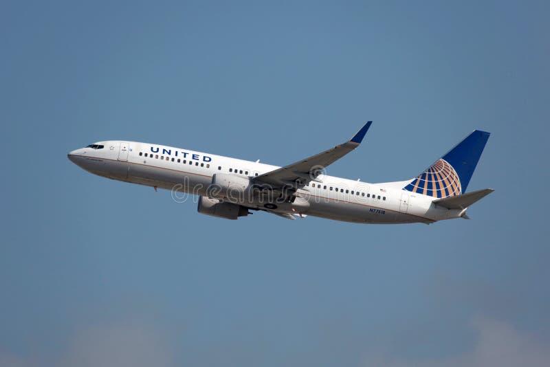 United Airlines Boeing 737-800 στοκ φωτογραφία με δικαίωμα ελεύθερης χρήσης
