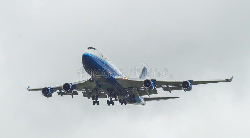 United Airlines Boeing 747 obrazy stock