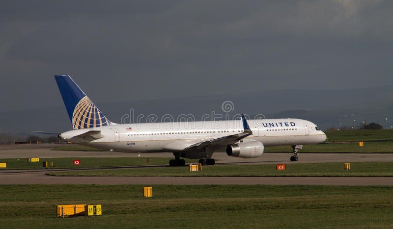 United Airlines Boeing 757 fotografia stock