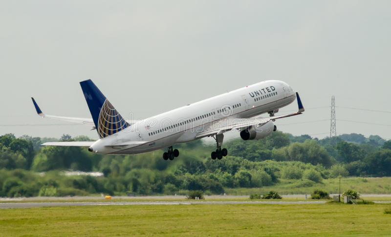 United Airlines Boeing 757 images libres de droits