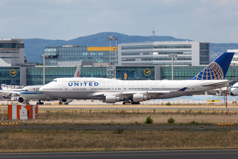 United Airlines Boeing 747-422 obrazy royalty free
