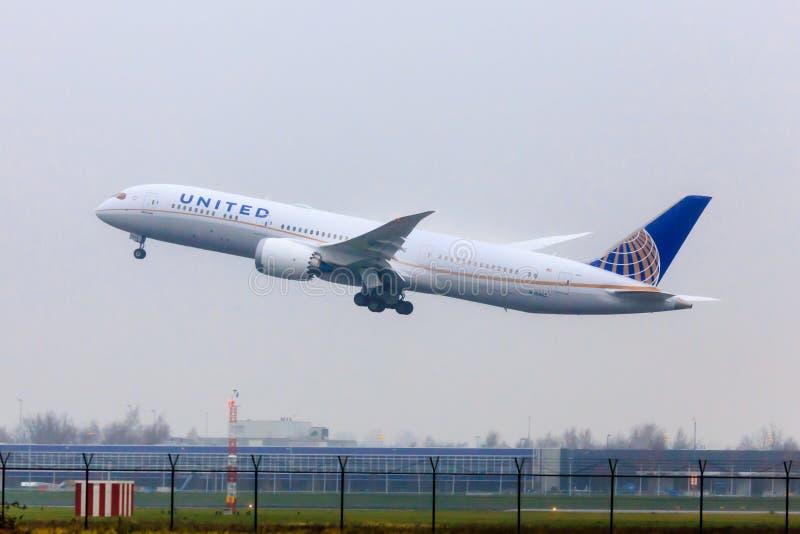 United Airlines Boeing 787 photos libres de droits
