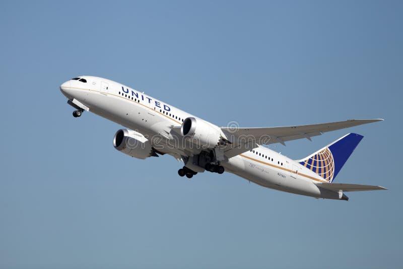 United Airlines Boeing 787-8 Dreamliner zdjęcie royalty free