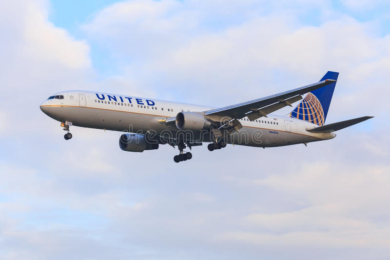 United Airlines Boeing 767 photo stock