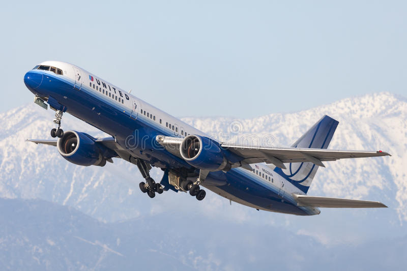 United Airlines Boeing 757 stock afbeelding