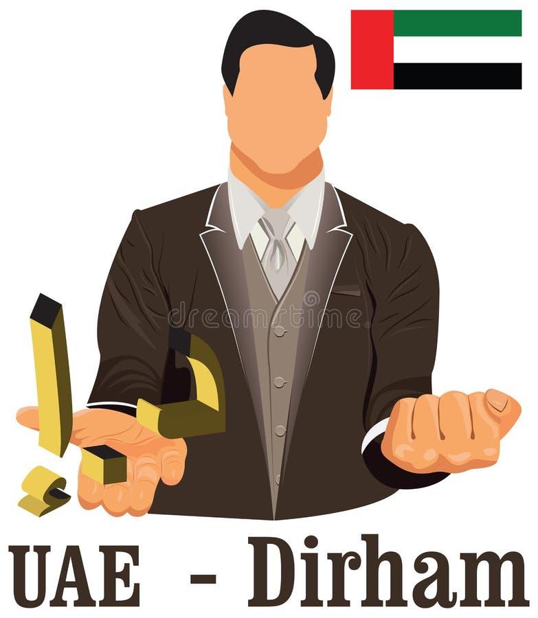 United Arab Emirates Currency Symbol Dirham Representing Money And