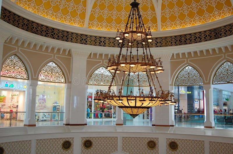 United Arab Emirates, Dubai. Chandelier in Dubai Mall. royalty free stock images