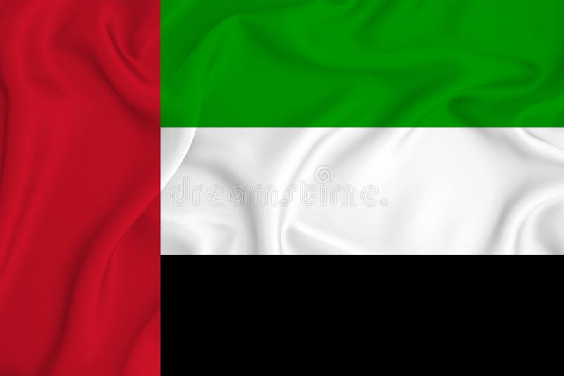 United Arab Emirates flag on the background texture. Concept for designer solutions.  stock image