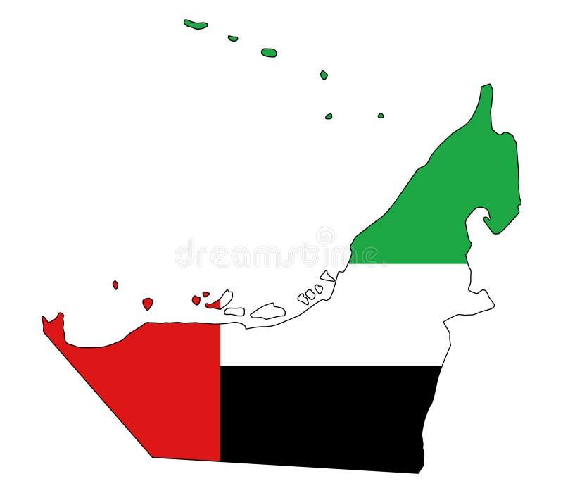 United Arab Emirates Mapa da ilustração do vetor dos UAE ilustração royalty free
