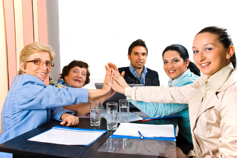 Download United Business People Team High Five Royalty Free Stock Image - Image: 14861046