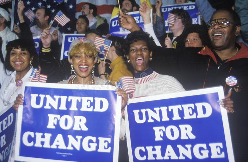 Download United For Change signs editorial stock image. Image of presidential - 26277034