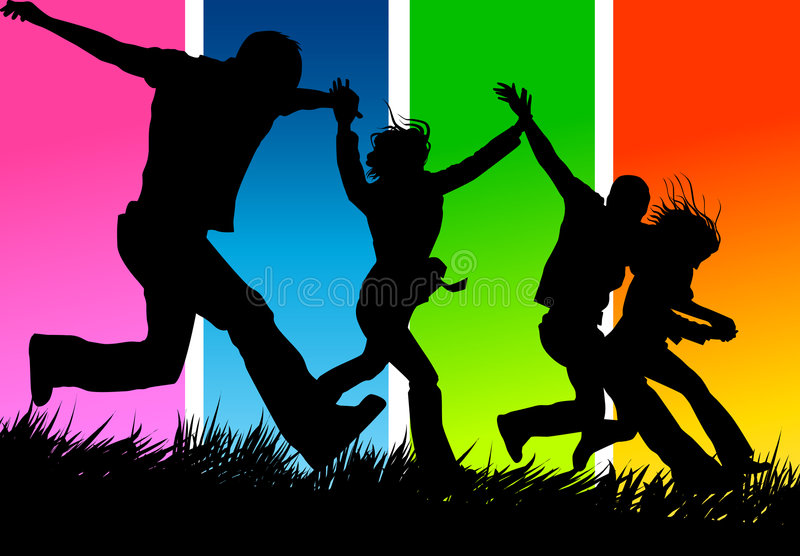 Download United Friends stock vector. Image of celebration, leisure - 2295078