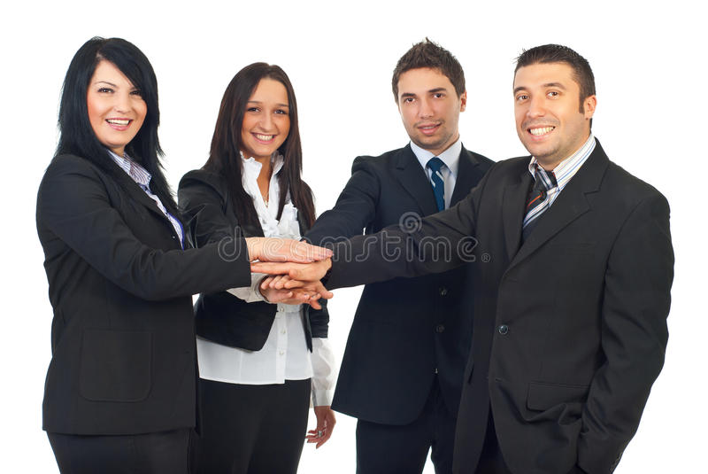 United group of business people royalty free stock images