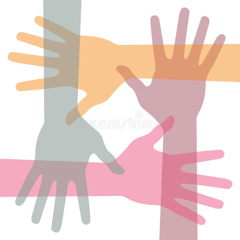 United hands stock illustration