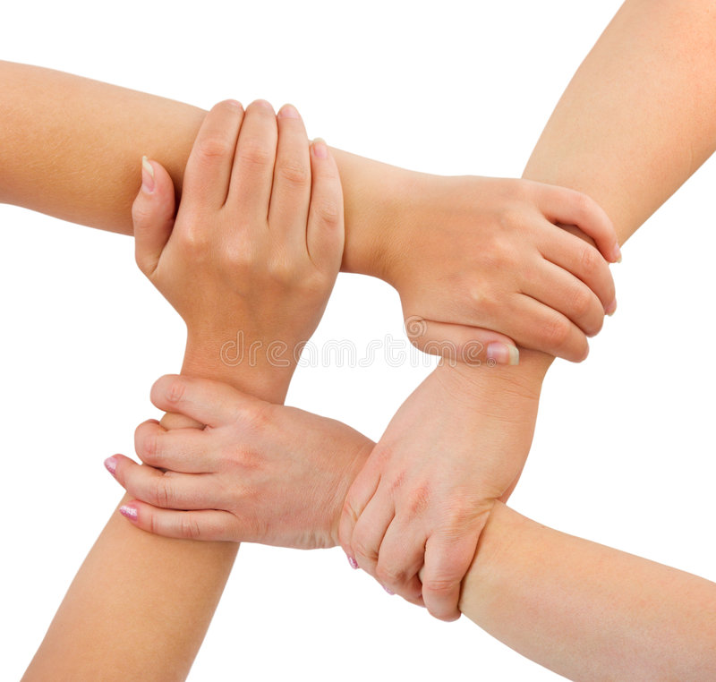 United hands royalty free stock image