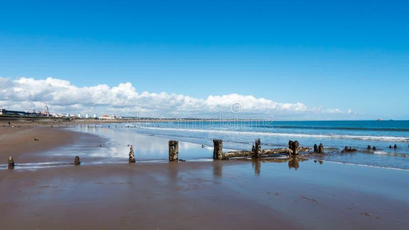 United Kingdom Aberdeen beach. North of Scotland stock photos
