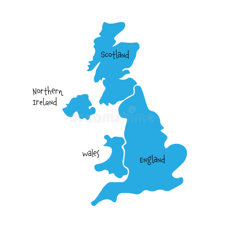 Map Of England Wales.United Kingdom Uk Of Great Britain And Northern Ireland Map