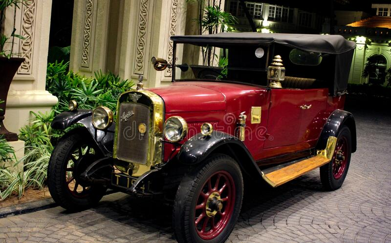 United kingdom automobile Austin 7 1920 model vintage classic red colour car.  royalty free stock image