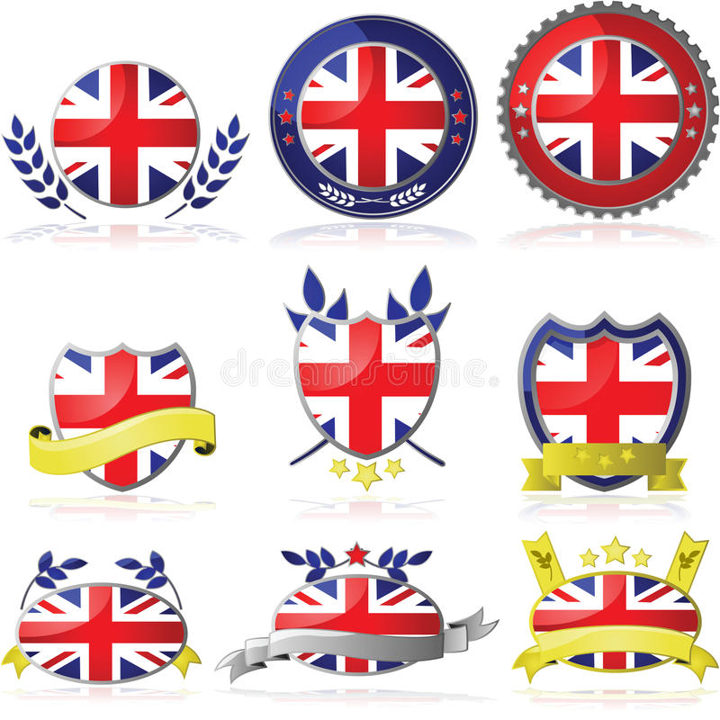 United Kingdom badges stock illustration