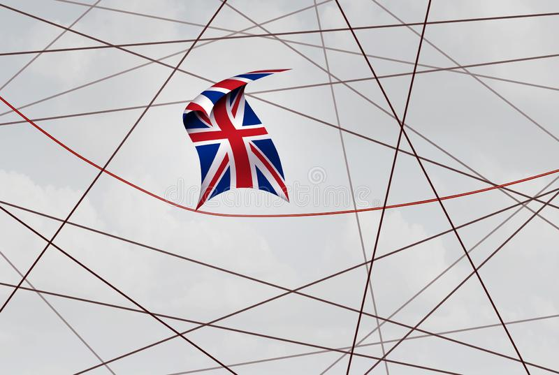 United Kingdom Brexit Deal. Crisis and British political uncertainty or Britain referendum and election vote in a 3D illustration style royalty free illustration