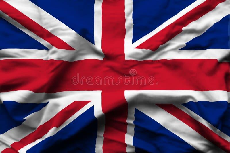 United kingdom realistic flag illustration. stock illustration