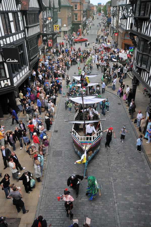 United Kingdom England Chester. Festival royalty free stock images
