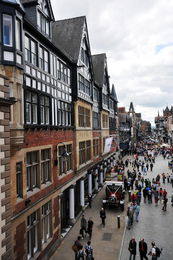 United Kingdom - Chester. United Kingdom England Chester and outdoors stock image