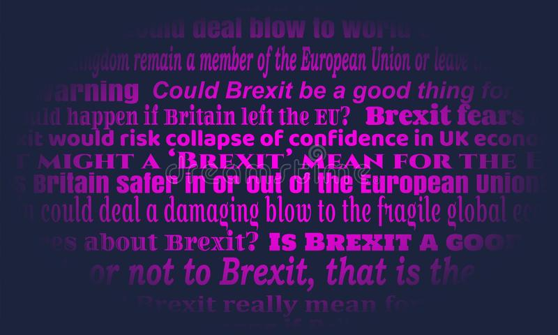 Britain exit from European Union. United Kingdom exit from Europe relative news headlines. Brexit named politic process royalty free illustration