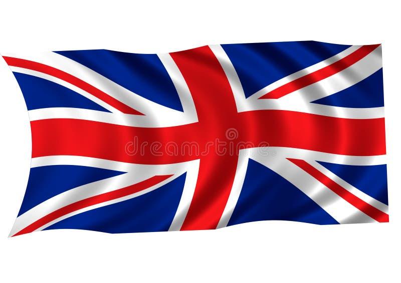United Kingdom flag stock illustration