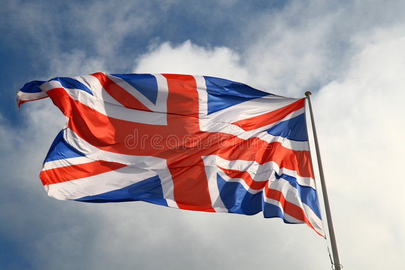 Download United Kingdom flag stock photo. Image of military, clouds - 5640114