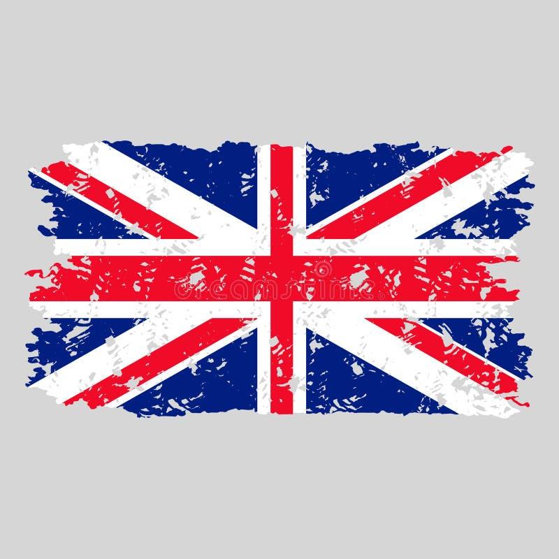United kingdom flag grunge texture stamp vector illustration