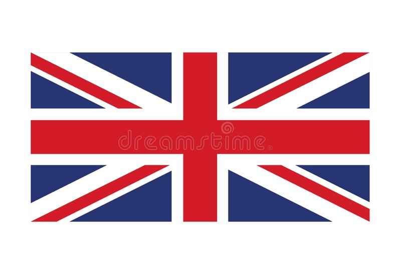 United Kingdom flag isolated vector image, Union Jack, symbol of Great Britain. United Kingdom flag vector image, Union Jack, symbol of Great Britain royalty free illustration