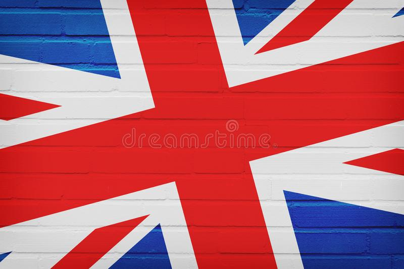 United Kingdom Flag painted on Brick Wall royalty free stock photos