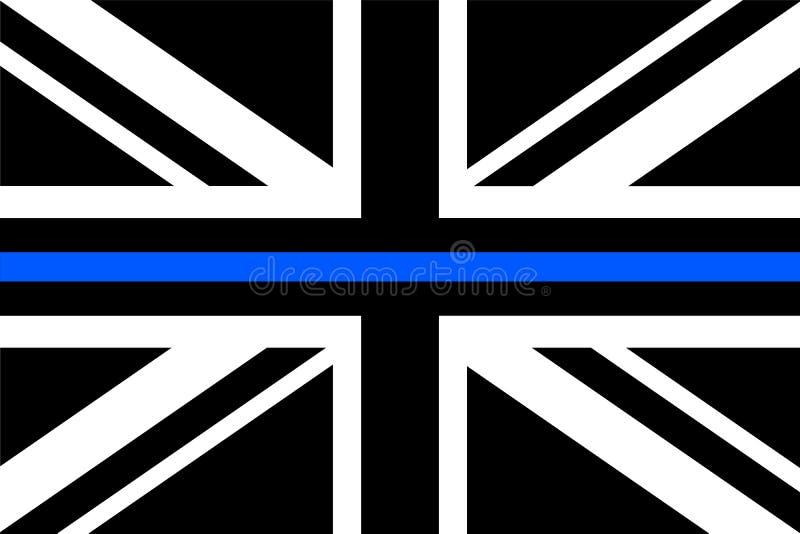 United Kingdom flag a with thin blue line royalty free illustration