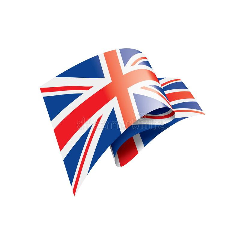 United Kingdom flag, vector illustration on a white background vector illustration