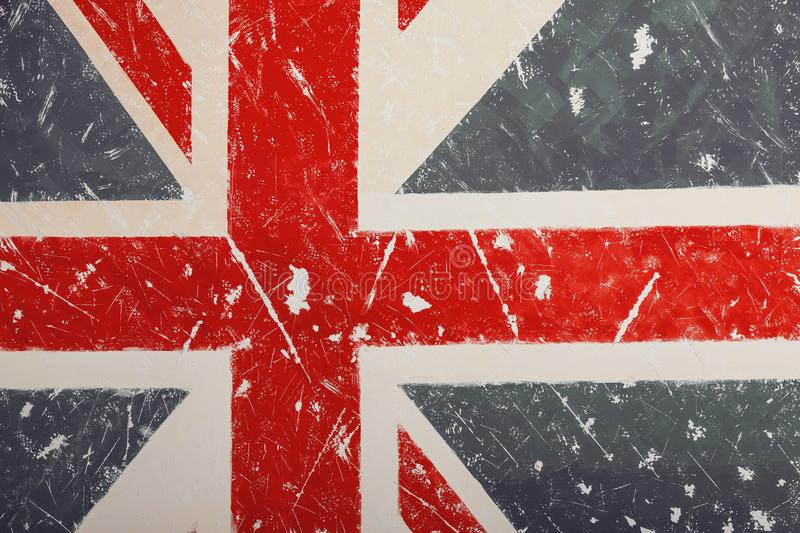 Download United Kingdom Flag With A Vintage And Old Look Stock Illustration
