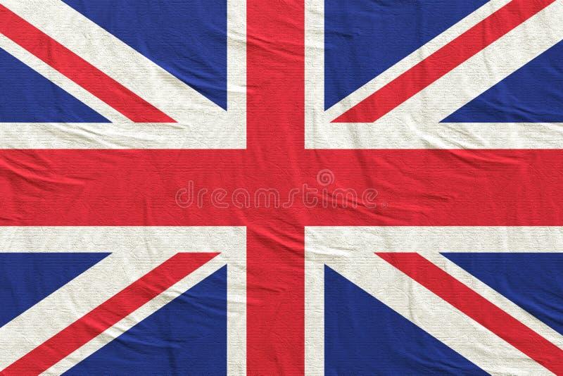 United Kingdom flag waving. 3d rendering of United Kingdom flag stock illustration