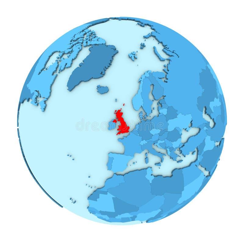 Map Of Uk On Globe.United Kingdom On Globe Isolated Stock Illustration Illustration