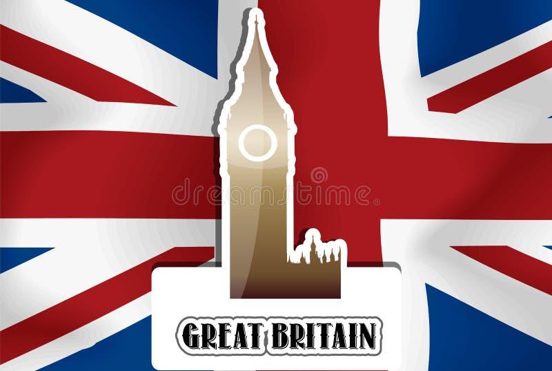 United Kingdom Great Britain, illustration stock illustrationer