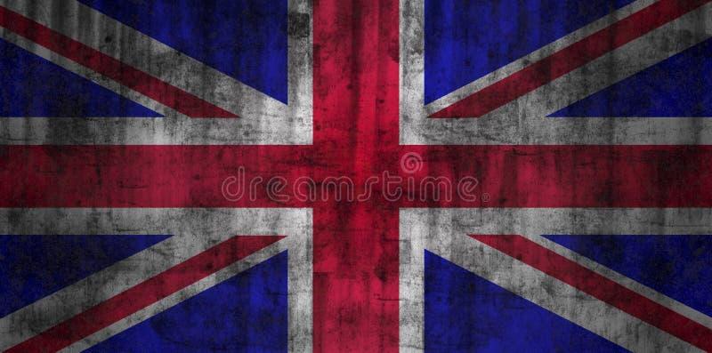 United Kingdom grunge flag stock illustration